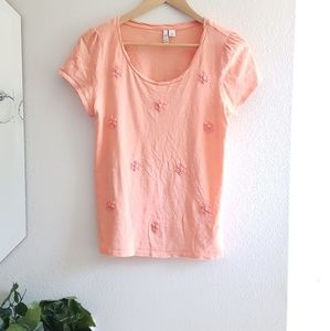 🦋 Elle • peach embellished tee